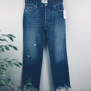 Free People _blue distressed jeans